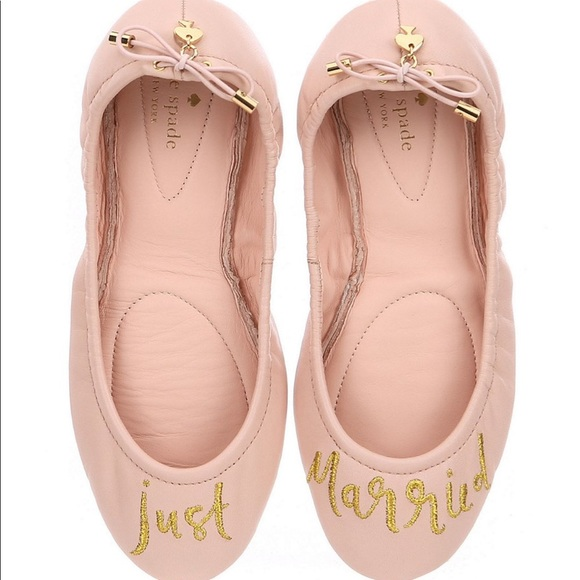 f6121a56c4a Kate spade just married ballet flats